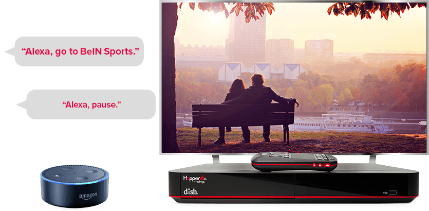 TV manos libres de DISH - Controla tu TV con Alexa de Amazon - kernersville, nc - International Satellite TV - Distribuidor autorizado de DISH